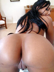 Perfect round ebony amateur asses and..