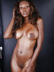 Seductive baleful chick Nyomi Banxxx slipping missing her port side lingerie