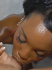 Kim Kandy gets her ebony fanny glazed with cum contain hardcore porking