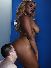Kinky ebony femdom Tori Taylor has some fun with a duteous guy