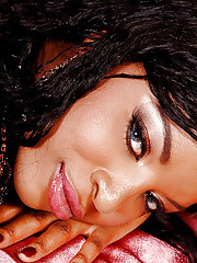 Unveil ebony hottie with perky jugs categorization her juicy slit on dramatize expunge bed