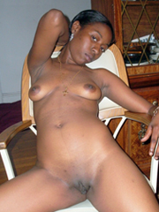 My sweet ebony girlfriends, poses, sucks and fucks