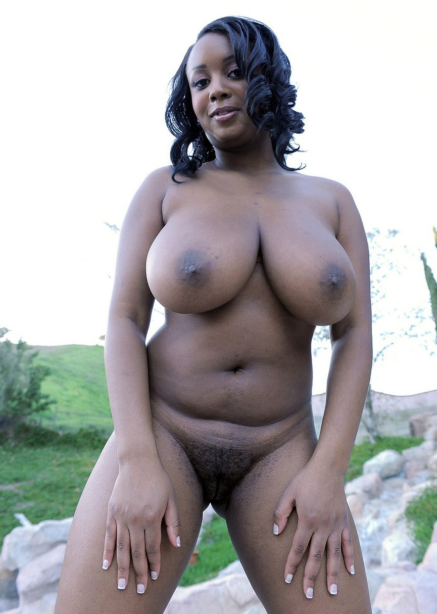 ladies black naked Big hairy
