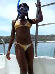 Secret, candid photos of young black girl on vacation