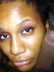 Ebony Milf sucks hubby's big dick, Hq pictures