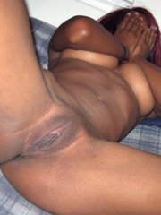 black GFs, posing nude front the mirror