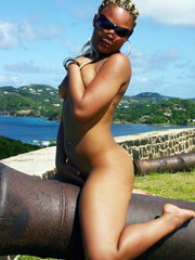 Nude and clothed young ebony girlfriends