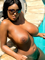 Is this busty ebony whore a bitch or what