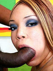 Teen gets shaved pussy filled with black man goo