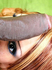 Alluring hottie sticks a black penis in..