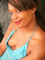 Ebony bitch snacks on sperm in front of..