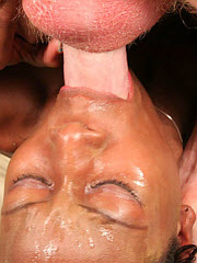 Ghetto fab slut is defiled in a cum mask