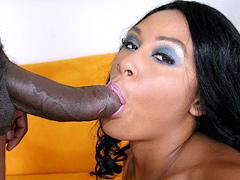 Cock loving brunette Alayah Sashu in hard pussy fucking. Alayah Sashu