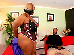 Big black cock fucks huge black chick