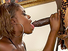 Black babe takes it inside her tight ass. America