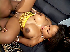 Black princess gets fucked in her ass. Kitten