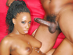 Pretty black chick sells her pussy for a nasty doggy fucking. Mahlia Milian