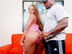 Black mama gets boned doggy style by a well hung brutha. Osa Lovely