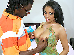 Busty black babe gets deep dicked in the sack. Aliana Love