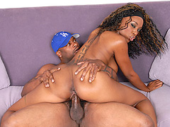 Sexy black chick loves big fat dicks. Erika Vution