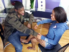 Cute ebony teen, Candice Nicole, sex movie