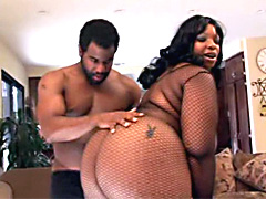 Check out the incredible black booty on this huge fat ass ebony whore - Crystal Clear! She bends..