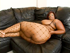 Chubby ebony BBW, Crystal Clear, porn video