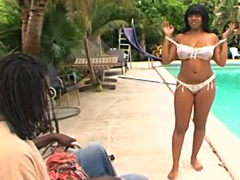 Darling is a busty black woman with..