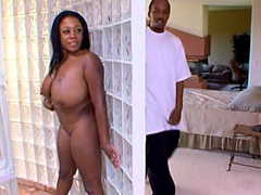 Goldie Jackson is a big tits and horny ebony loves to suck big dicks! Goldie lick and slurp large black..
