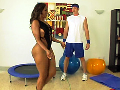 Big ass black babe Ms Juicy knew what to do and went to the ground to suck on his meat hog. After..