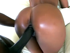 Ebony Roxy Reynolds never seen hugest black dick as this and she was very afraid when this piston..