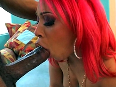 Big ass ebony Pinky face fucked by realy huge black monster cock