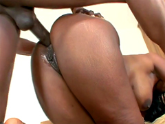 Black Milf Nyomi Banxxx anal scene