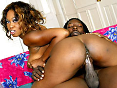 Big boobed black MILF rocking a cock like a total champ. Delotta Brown