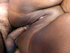 Big boobed ebony BBW Crystal Clear gets her fat ass..