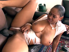 Ebony Baby Cakes has real natural big tits and very cute face that makes she perfect for hardcore..
