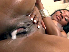 Big titted ebony star Nyomi Banxxx pussy drilled for..