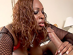 Black babe gets her large ass fucked..