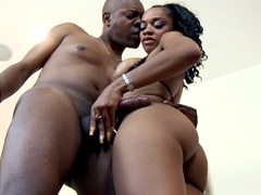 Mature ebony lady is moaning with each thrust