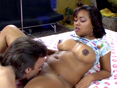 Melody Nakai dominating over man and turning him into the slave. Melody met guy who know how to lick ladies..