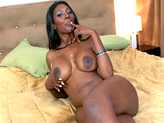 Nyomi Banxxx is covered by fresh sperm..