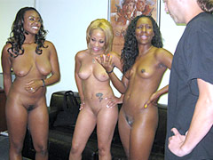 Black whore spreads open for monster cock