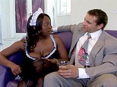 A pole smoking black woman gets bent..