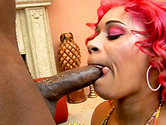 Redhead afro american babe Pinky in..