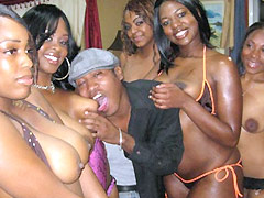Brown Sugarr works cock and takes it in every hole