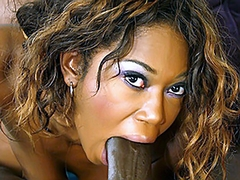 Delotta Brown is one of the hottest ebony milfs. Byron Long fucks her so hard that she is nearly bouncing up..