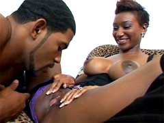 Hot ebony chick with a nice big tits..