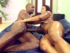 Cherokee D Ass is turned on and ready for any cock that she can get! She gives her boyfriend a kiss on the..