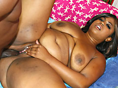 Chubby ebony MILF having her sweet snatch fucked. Karmella Kreme