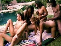 This cock hungry ebony babes shared two hartd dicks Coco and Obession and Kira and Champagne